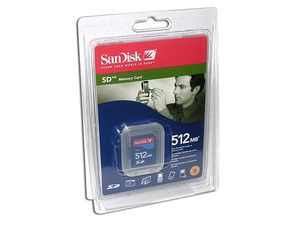 Memoria SanDisk de 512MB, Secure Digital (SD)