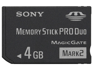 Memoria Sony Memory Stick Pro Duo MagicGate Mark 2 de 4GB.
