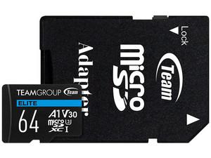 Memoria TeamGroup Team Elite MicroSDXC UHS-I U3 de 64GB, Clase 30.