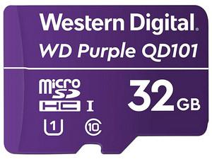 Memoria WD Purple Micro SDHC de 32 GB, clase 10, Optimizado para Cámaras de Seguridad.