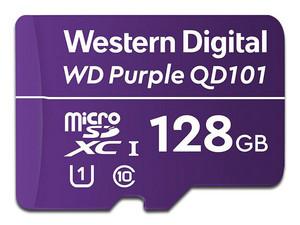 Memoria MicroSDXC Western Digital Purple SC QD101 de 128GB, UHS-I U1, Clase 10, para Cámaras de Seguridad.