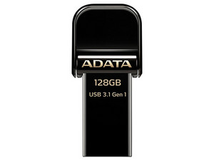 Unidad Flash USB 3.0/Lightning ADATA para iPhone y iPad de 128 GB. Color Negro.