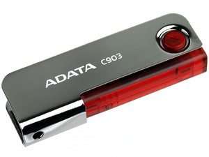 Unidad Flash USB 2.0 ADATA Superior C903 de 4GB. Color Roja