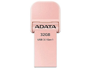 Unidad Flash USB 3.0/Lightning ADATA i-Memory para iPhone y iPad de 32 GB. Color Rosa Dorado