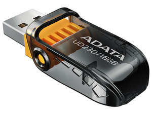 Unidad Flash USB 2.0 ADATA UD230 de 16GB. Color Negro.