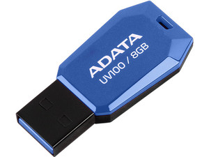 Unidad Flash USB 2.0 ADATA DashDrive UV100 de 8GB.