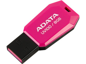 Unidad Flash USB 2.0 ADATA DashDrive UV100 de 8 GB.