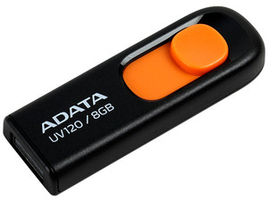Unidad Flash USB 2.0 ADATA Dash Drive UV120 de 8 GB.