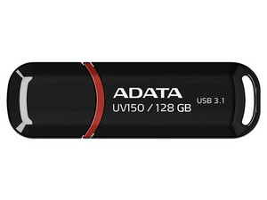 Unidad Flash USB 3.0 ADATA Dash Drive UV150 de 128GB. Color Negro.