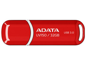 Unidad Flash USB 3.0 ADATA Dash Drive UV150 de 32 GB. Color Rojo.