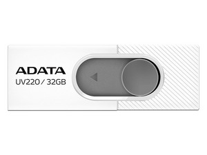 Unidad Flash USB 2.0 Adata UV220 de 32 GB. Color Blanco/Gris.