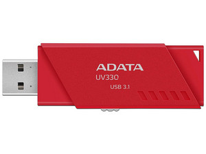 Unidad Flash USB 3.0 ADATA UV330 de 128 GB. Color rojo.