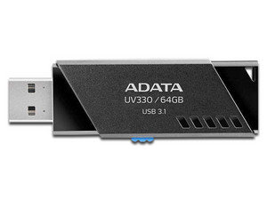 Unidad flash USB 3.1 ADATA UV330 de 64GB. Color negro.