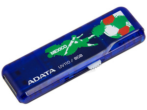 Unidad Flash USB 2.0 ADATA DashDrive UV110 Fútbol de 8 GB.