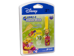 Unidad Flash Mini USB 2.0 ADATA Disney Winnie the Pooh de 2GB