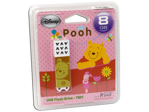 Unidad Flash USB 2.0 ADATA Disney Pooh de 8GB