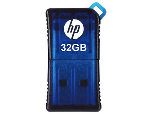 Unidad Flash USB 2.0 HP 165W de 32GB. Color Azul.