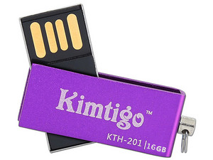 Unidad Flash USB 2.0 Kimtigo KTH-201 de 16GB. Color Purpura.