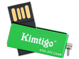 Unidad Flash USB 2.0 Kimtigo KTH-201 de 16GB. Color Verde.