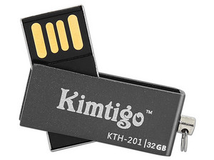 Unidad Flash USB 2.0 Kimtigo KTH-201 de 32GB. Color Negro.