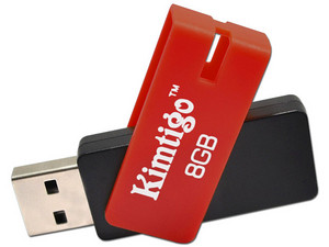 Unidad Flash USB 2.0 Kimtigo KTH-209 de 8GB. Color Rojo.