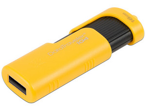 Unidad Flash USB 2.0 Kingston DataTraveler de 16GB. Color Amarillo
