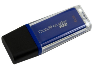 Unidad Flash USB 2.0 Kingston DataTraveler 102  de 8GB. Color Azul