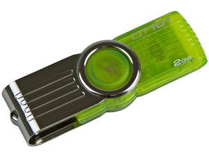 Unidad Flash USB 2.0 Kingston DataTraveler 101 de 2GB. Color Verde
