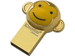 Unidad Flash USB 2.0 Kingston Mono Chino de 32GB. Color Dorado.