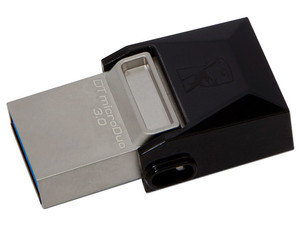 Unidad Flash USB 3.0/microUSB Kingston DataTraveler microDuo OTG de 16 GB.