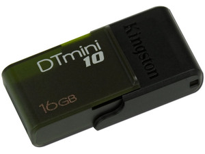 Unidad Flash USB 2.0 Kingston DataTraveler mini10 de 16GB. Color Verde