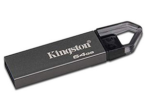 Unidad Flash USB 3.0 Kingston DataTraveler Mini RX de 64GB, Color Gris.