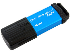 Unidad Flash USB 2.0 Kingston DataTraveler SE1 de 4GB. Color azul