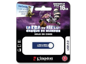 Unidad Flash USB 2.0 Kingston DataTraveler SE9 Ice Age Edition de 16 GB.