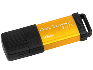Unidad Flash USB 2.0 Kingston DataTraveler SE1 de 16 GB.
