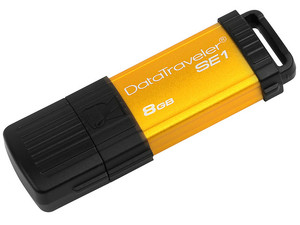 Unidad Flash USB 2.0 Kingston DataTraveler SE1 de 8GB. Color dorada