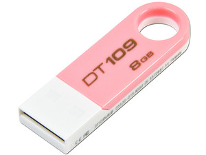 Unidad Flash USB 2.0 Kingston DataTraveler 109 de 8 GB. Color Rosa