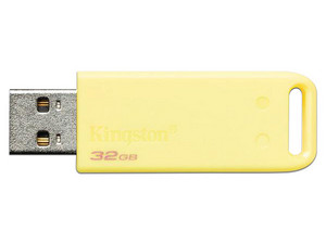 Unidad Flash USB 2.0 Kingston DT20 de 32GB. Color Amarillo.