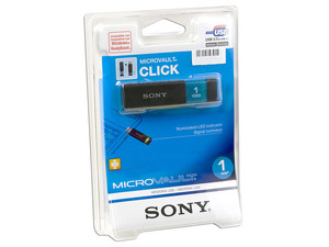 Unidad Flash USB 2.0 Sony Micro Vault CLICK de 1GB