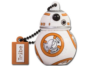 Unidad Flash USB 2.0 Tribe STAR WARS, BB-8 de 8 GB.