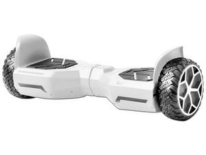Patineta Eléctrica Blackpcs Hoverboard M406, con Altavoz Bluetooth. Color Blanco.