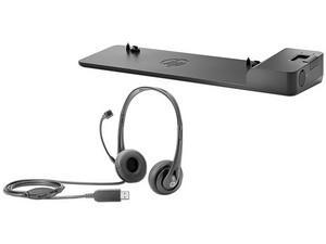 Base de expansión HP 2013 UltraSlim para HP EliteBook Folio 9470m y HP EliteBook Revolve 810 G1, Incluye Audifonos HP con conexión USB.