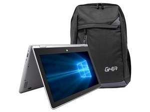 """Laptop GHIA Shift 2: Procesador Intel Atom x5-Z8350 (hasta 1.92 GHz), Memoria de 4GB DDR3, Almacenamiento eMMC de 64GB, Pantalla de 11.6\"""" LED, Unidad Óptica No Incluida, S.O. Windows 10 Home (64 Bits) + Mochila."""