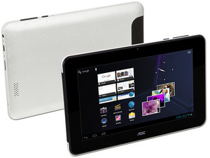 Tablet AOC Breeze MW0711 con Android 4.0, Wi-Fi, Cámara, Pantalla Multitouch de 7