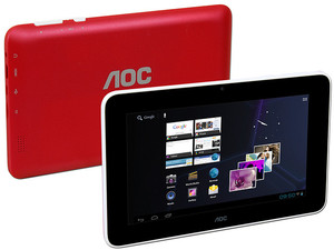 Tablet AOC Breeze G7 con Android 4.1, Wi-Fi, Cámara, Pantalla Multitouch de 7
