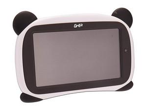 "Tablet GHIA Kids Panda 7: Procesador Quad-Core (1.2 GHz), Memoria RAM de 1GB, Almacenamiento de 8GB, Soporta microSD, Pantalla de 7\"" (1024x600), Red Wi-Fi 802.11 b/g/n, Bluetooth, Android 8.1 Go Edition. Diseño de Panda ojos Cafés."