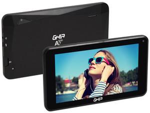 "Tablet GHIA A7: Procesador Quad Core A50 (hasta 1.5 GHz), Memoria RAM de 1GB, Almacenamiento de 16GB, Pantalla LED Multi Touch de 7\"", Wi-Fi, Bluetooth, Android 8.1 (Go Edition). Color Negro."