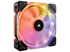 Ventilador Corsair HD120 de 120 mm con LED RGB, 800 - 1725 RPM, 18 - 30 dBA.