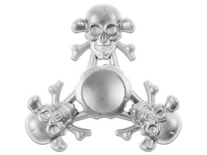 Spinner de Calavera color Plata