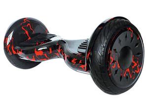 Hoverboard eléctrico Blackpcs con Bocina Bluetooth, hasta 115km/h. Color Negro y Rojo.